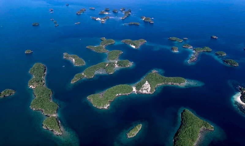 hundreds islands 千島俯瞰圖 - 圖片轉自【Travel Through Paradise】